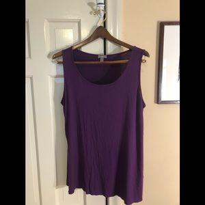 J Jill sleeveless tunic top